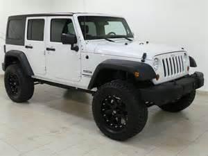 white 2012 jeep wrangler road wheels larry green