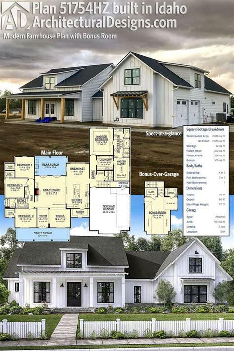 plan hz modern farmhouse plan  bonus room