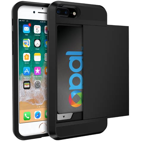 tough card holder slide iphone 8 plus 7 plus black