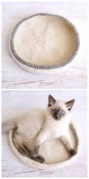 cat bed pattern crocheted cat bed pattern allcrafts free crafts update