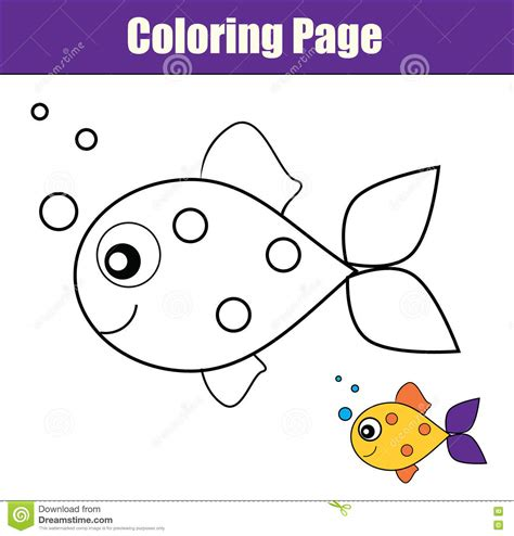 fish coloring pages games coloring page with fish educational game printable