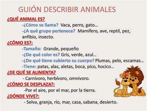 imagenes animales para describir tercero de primaria la descripci 211 n