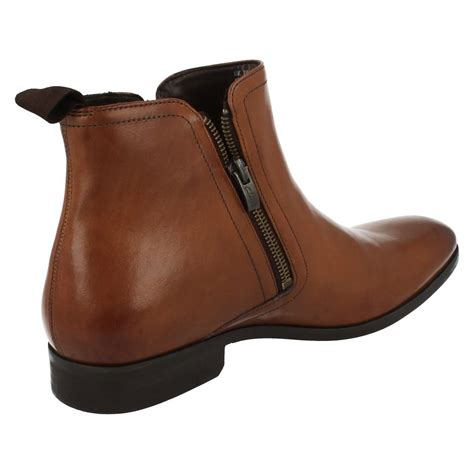 mens zip ankle boots mens clarks smart zipped ankle boots banfield zip ebay