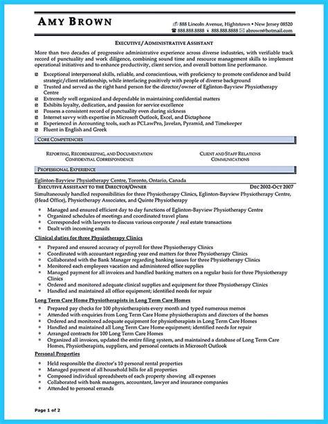 administrative assistant resume template staruptalent