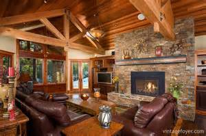 Western Couches Living Room Furniture by 44 Cozy Living Rooms Amp Cabins With Beautiful Stone Fireplaces