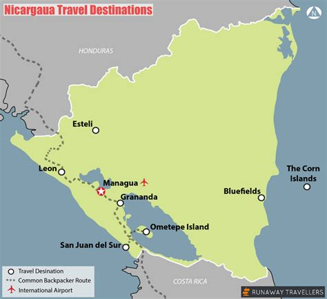 travel destination maps top things to do in nicaragua runaway travellers