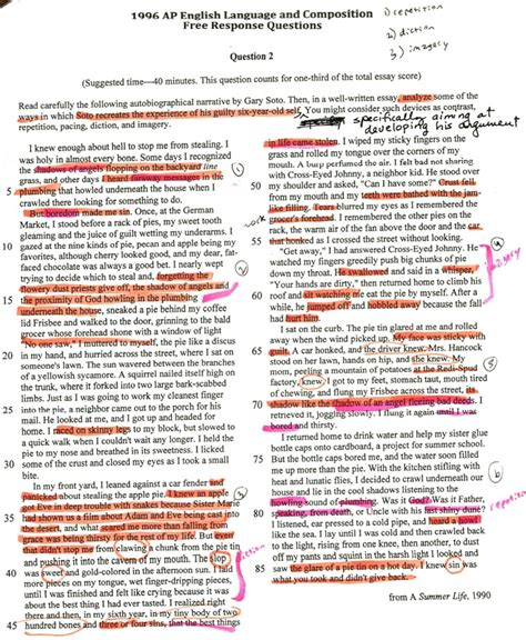 Pie Format Essay by Gary Soto Pie Essay