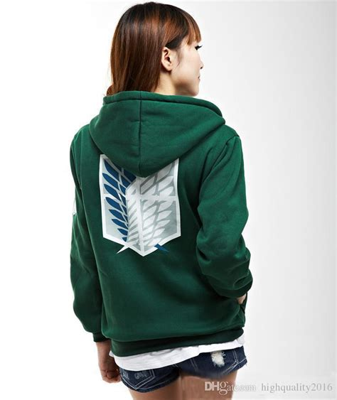 Promo Sweater Attack On Titan 3 sell new green anime attack on titan hoodie scouting legion hooded sweater