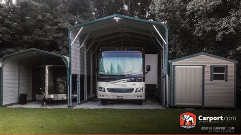 trailer garage new economical rv carports and metal garage fabrication