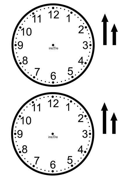 make a clock template ins pi re math make your own class set of clocks