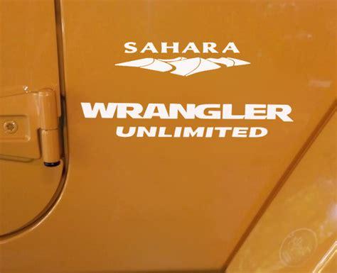 Jeep Sahara Aufkleber by Jeep Wrangler Unlimited Sahara Replacement Stock Logo Full