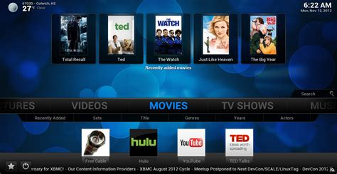 film streaming xbmc xbmc 12 quot frodo quot released refugeeks