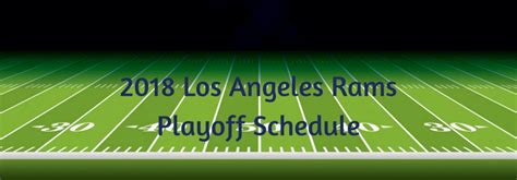 los angeles rams playoff schedule