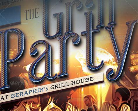 grillabend grill restaurant flyer
