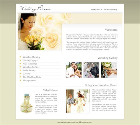 wedding site templates free 2473 wedding website templates dreamtemplate