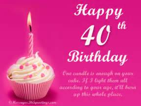 40th birthday card messages birthday wishes age 40