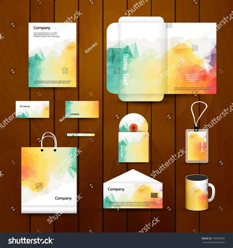 Branding Design Template Abstract Corporate Brand Business Identity Design Stock