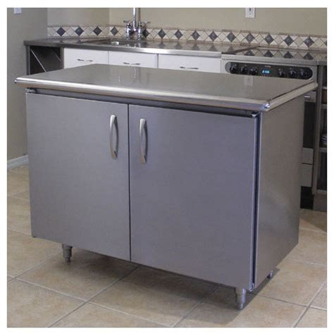 stainless steel kitchen island cart professional chef kitchen island with stainless steel top
