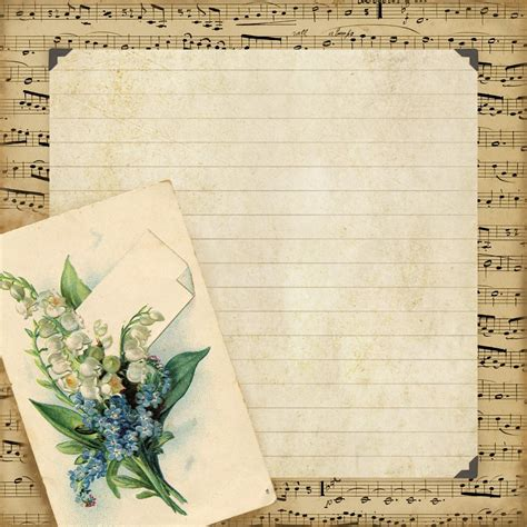 lined paper with music border free vintage writing paper with borders search results