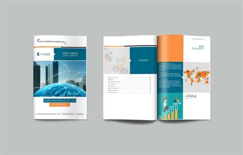 elegant company profile design professional elegant brochure design for castlenet