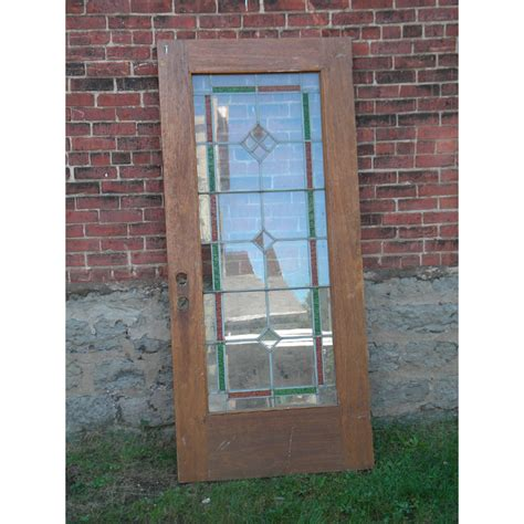 Vintage Front Doors Antique Leaded Glass Exterior Door