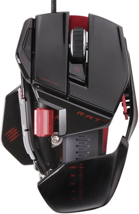 Pc Mad Catz Freqm Wired Gloss Black mad catz r a t 7 mouse gloss black iwoot