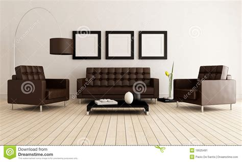 white brown living room brown and white living room stock image image 19525491