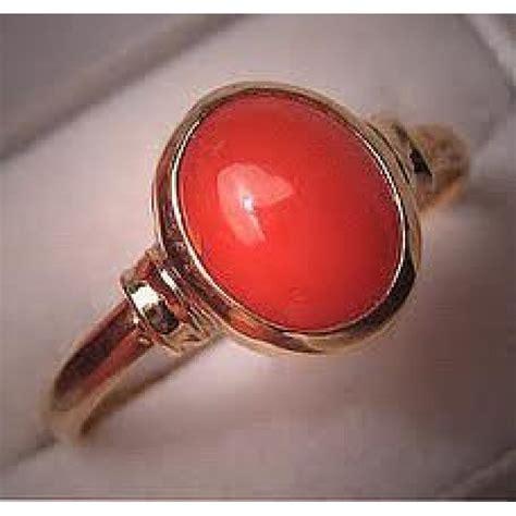 munga coral gemstone ring and pendent mrp price 5 1 4