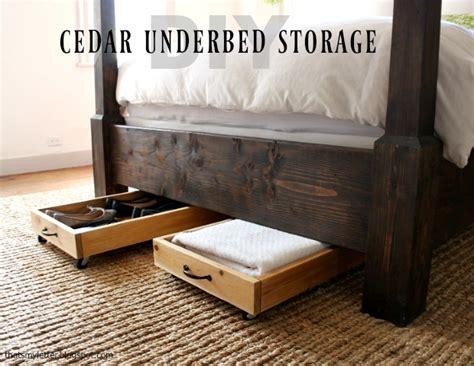 letter diy cedar underbed storage