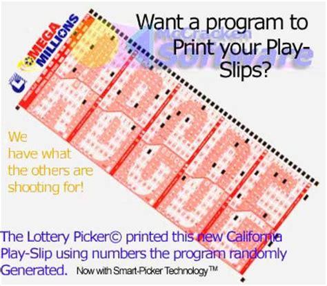 printable lottery numbers print powerball tickets print mega millions tickets