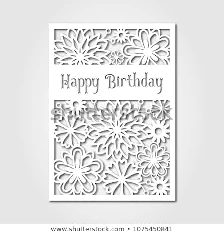 Happy Birthday Paper Cutting Template Card Stock Vector Royalty Free 1075450841 Shutterstock Card Cut Out Template