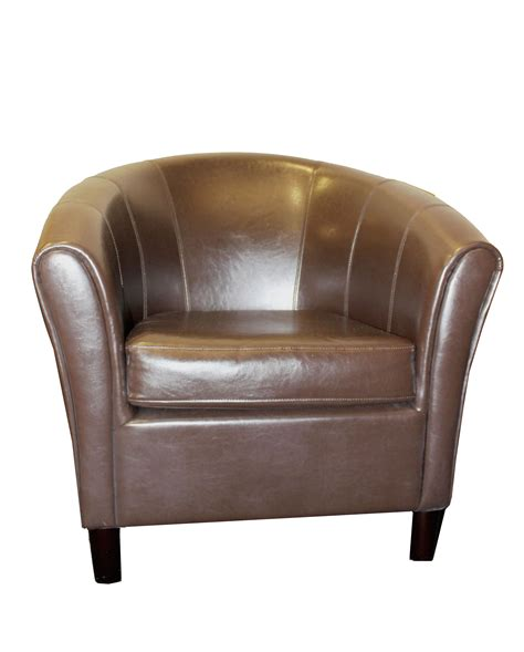 faux leather club chair brown faux leather club chair