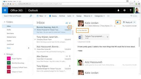 Office 365 Y Outlook 2003 Microsoft Introduce El Bot 243 N Me Gusta En Outlook Para