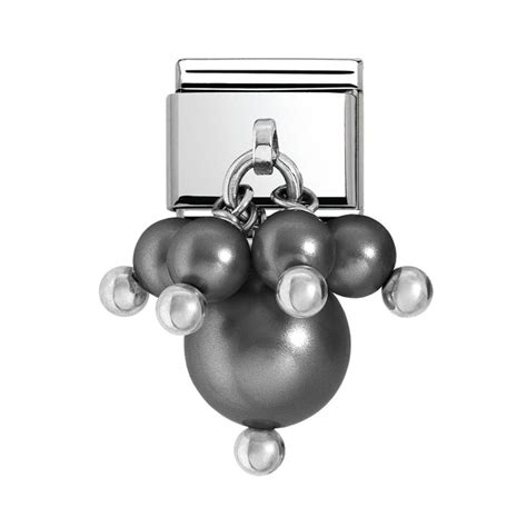 nomination charms steel black pearl charm 030609 03
