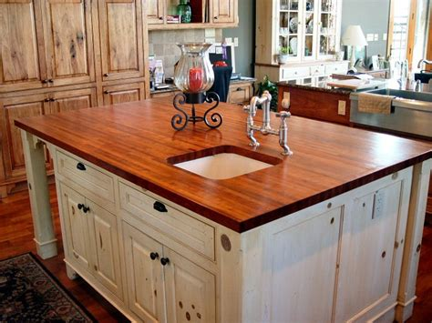 kitchen island com mesquite custom wood countertops butcher block