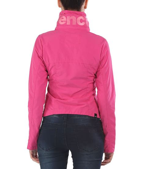 pink bench jacket bench bbq c light hooded jacket in pink lyst
