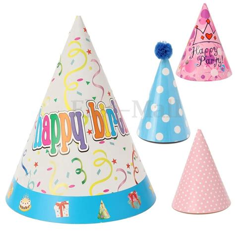 How To Make Birthday Cap With Paper - 8pcs paper birthday celebration cone hats boys