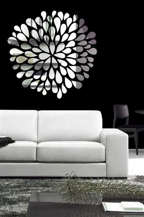 wall sticker mirrors reflective wall decals with mirror like finish