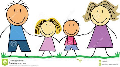 doodle kid safe familia feliz ni 241 os que dibujan illustration