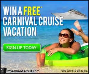 Free Carnival Cruise Gift Card - travel freebies guide