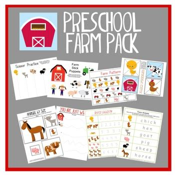 Farm Theme Home Preschool Lesson Preschool Farm Pack Creative Preschool Resources