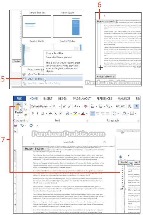 membuat no halaman di word 2013 cara mengubah orientasi halaman portrait atau landscape