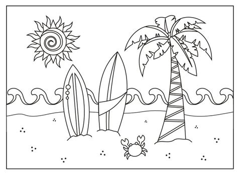 summer coloring page pdf 237 free printable summer coloring pages for kids