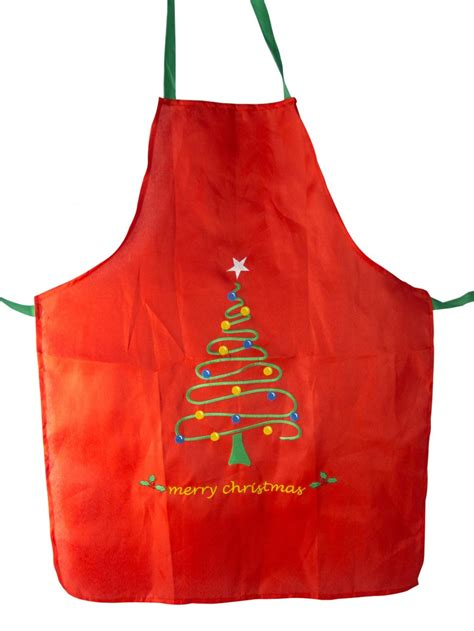 merry christmas tree apron 1 size fits most