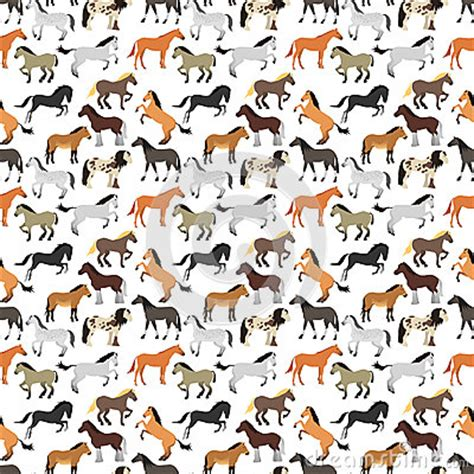 cute baby pattern stock vector image of horse collection seamless pattern with horse in flat style stock vector