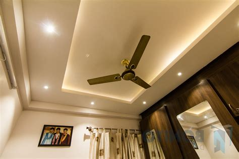 false ceiling designs for with two fans