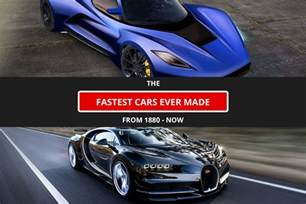 fastest cars in the world from 1880 to now car
