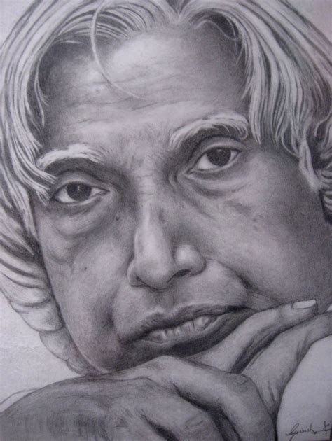 P Drawing Image by Pencil Sketch Of Dr Kalam Desipainters