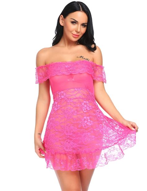 Bra Set Bra 8840 Sleepwear Baby Doll avidlove lace baby doll set sleepwear lace mesh chemise jet