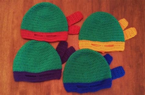 pattern for ninja turtle hat butterfly s creations masked beanies ninja turtles